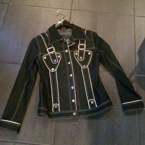 Dolce & Gabbana Denim Jacket with Satin Piping